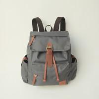 Tas Ransel Sekolah/Laptop/Backpack Wanita Trendy - Tuskbag Rolla Grey