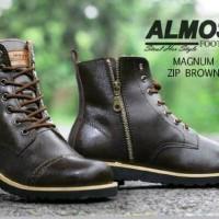 sepatu  boot kulit sleting original Almost magnum