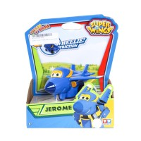 Mainan Anak Super Wings Jerome Auldey Vroom And Zoom Planes Push n Go!
