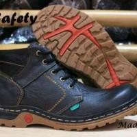 sepatu pria kickers boot kulit safety ujung besi  grade original
