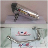 KNALPOT RACING AKRAPOVIC LAYANG FOR NINJA 250, Z250, R25, MT25..DLL
