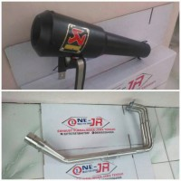 KNALPOT RACING AKRAPOVIC GARD FOR NINJA 250, Z250, R25, MT25..DLL