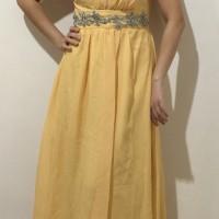 Dress Pesta chiffon yellow