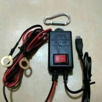 harga NEW.. Charger Hp Arus Aki Motor + Saklar On/Off/Charger Micro USB Tokopedia.com