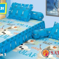 Saputra Sprei The Frozen Olaf Twin ranjang 2in1 Blue 120x200