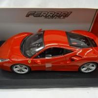 Diecast miniatur Ferrari 488 GTB 1/18 bburago reguler