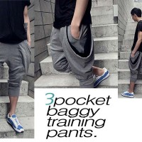 Celana pria wanita training 3pocket jogger olahraga baggy pants sport
