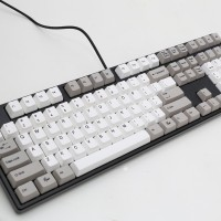 Ducky One White & Grey PBT Keycaps Mechanical Keyboard Brown Cherry MX