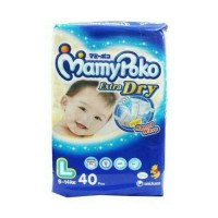 Pampers bayi/Diapers bayi Mamy Poko extra dry size L isi 40 pc