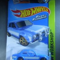 '70 70 FORD Escort RS 1600 blue biru HotWheels Hot Wheels FAST FURIOUS