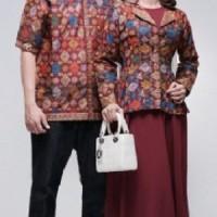 Sarimbit Pasangan Keluarga Gamis Couple Batik 1647 Maroon