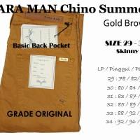 Zara Chino Man Gold Brown