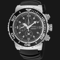 Jam Tangan Pria SNDA13 - Seiko SNDA13P2 Diver 200M Black Rubber Strap