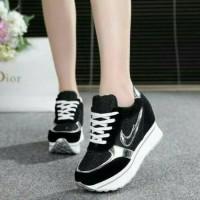 sepatu sneakers replika nike blink black