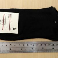 Kaos Kaki Katun Polos Import Untuk Pria & Wanita - Hitam [GAR-0008]