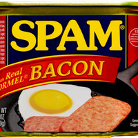 SPAM with Real Hormel Bacon Daging Luncheon/ Canned Meat/ kaleng