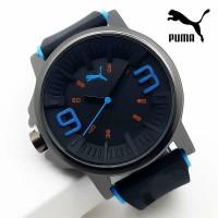 Jam Tangan Pria / Cowok Puma Ultrasize 93 Rubber Black List Red