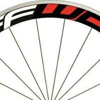 Stiker Decal Rim FFWD F5R Bahan Vinyl untuk rim velg sepeda lebar 4cm