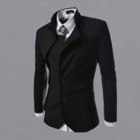 Jas Blazer Korea - Gakuran Black - Slim Fit - Stylish