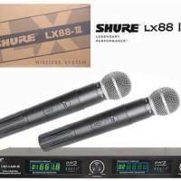 shure LX88 III wireless 2 mic genggam