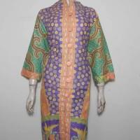 Dress Batik Jumbo 3L / Tunik Batik Kantor / Batik Wanita XXL Ungu