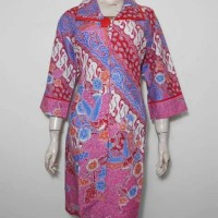 Dress Batik Big Size / Dress Batik Jumbo / Tunik Batik XXL 3L Pink