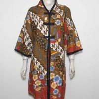 Dress Batik Jumbo Hitam XXL / Tunik Batik / Baju Batik Wanita 3L