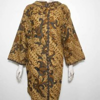 Dress Batik Jumbo / Dress Batik Sogan Coklat / Tunik Batik XXL 3L
