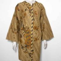 Dress Batik Jumbo / Dress Batik Sogan / Tunik Batik Wanita XXL 3L
