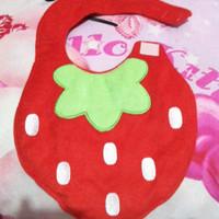 slabber bib bayi karakter strawberry