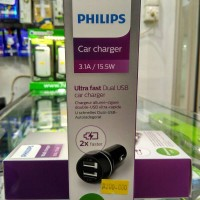 Car Charger Philips Dual USB 3.1A / 15.5W