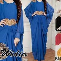 Gamis Kaftan Muslim Bordir Widia Dress KG1483