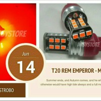 Lampu Rem T20 4 kawat LED Emperor Extrime Bright Mobil