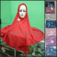 khimar/jilbab langsungan bunga bawah