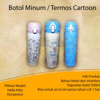 Botol Minum / Termos Cartoon Hello Kitty - Doraemon
