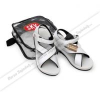Jual Sepatu Sandal Gunung Haji Umroh Pria Wanita Polos Putih Murah - SKV Murah