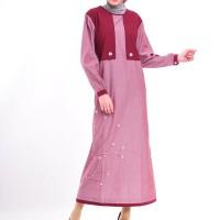 Gamis Nibras Cantik Busana Muslim NB 95 maroon