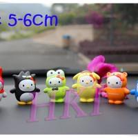 Pajangan / Miniatur Hello Kitty Kostum Set Isi 6