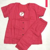 Baju Tidur Polka Dot Full Kancing / Baju Menyusui