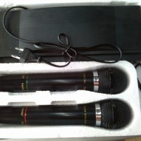 Jual mic microphone dua double tanpa kable wireless HOMIC HM-306 HM 306 Murah
