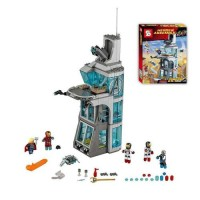 Jual Lego SY  attack on avengers tony stark tower building (sy 370) Murah
