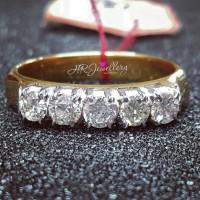 Cincin berlian wanita ring emas kuning 50%