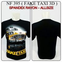 kaos spandex 3D hitam mobil fake taxi car baju distro t Limited