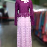 Baju Muslim/Busana muslimah/Gamis Princess Brokat/Dress Brokat