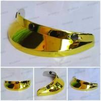 pet helm gold/emas/ model bogo/vespa/cafe racer/