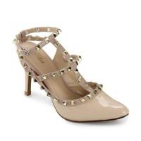Sepatu High Heels Wanita De Velvet Valentino Nude