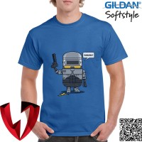 Jual Kaos Funny T-Shirt - Robocop Minion - Original Gildan Murah