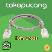 10m Kabel LAN utp cat5 / cat5e siap pakai Cross | Jaringan | POE