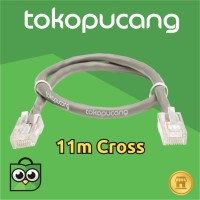 11m Kabel LAN utp cat5 / cat5e siap pakai Cross | Jaringan | POE