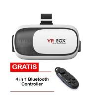 VR BOX 3D Glasses Versi 2 (Slide in Ponsel) +Free Bluetooth Controller